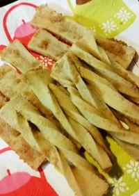 低糖♡高野豆腐でカリッ!ガーリックラスク