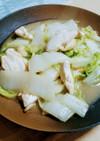 白菜と鶏むね肉のオイスターソース炒め
