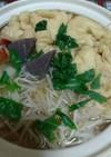 節約!豆腐巾着と野菜の鍋