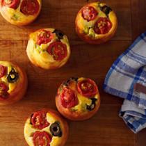 トマトと枝豆のミニアップサイドダウンケークサレ