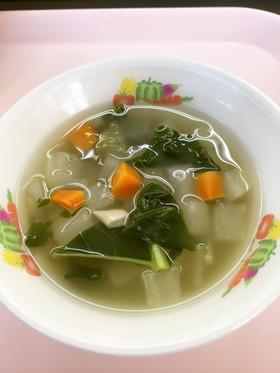 大根スープ ★宇都宮学校給食