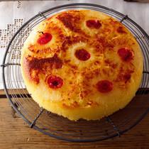 パイナップルの簡単アップサイドダウンケーキ