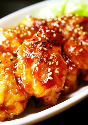鶏もも肉がぷりぷり!甘辛コチュジャン焼き