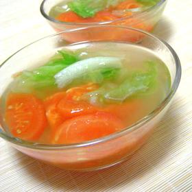 トマト&レタスのナンプラースープ