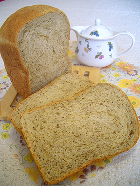 HBで☆ふんわり甘~いミルクティー食パン