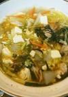 冬瓜・白菜・ベーコンの彩り鍋