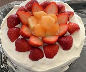 ふわふわ♥莓のショートケーキ