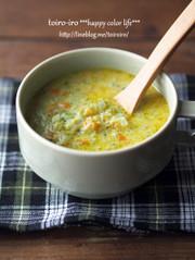 ブロッコリーと人参のカレー豆乳スープの写真