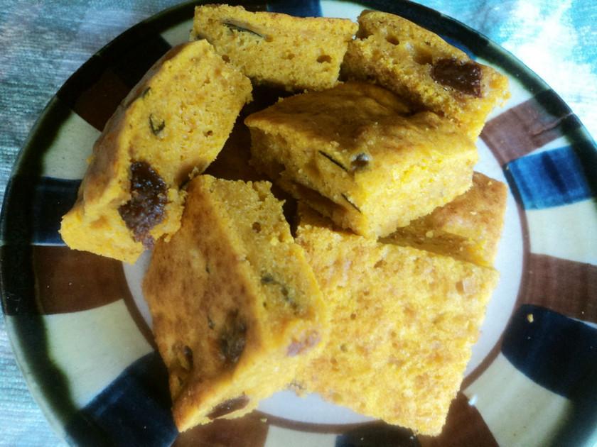 カボチャの煮物でパンプキンケーキ