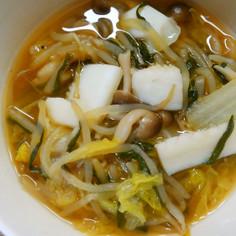 イカと白菜とニラ もやしのコンソメ醤油煮