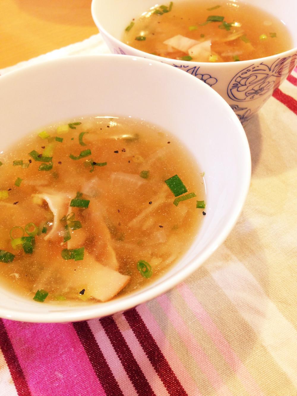 冷凍ハムDE中華風!簡単大根スープ
