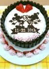 結婚記念日★ミッキーミニー時短2段ケーキ