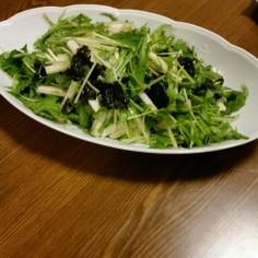 水菜と長芋のサラダ♡