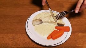 ジブリ飯*鱈のソテー~ほんのり紅の豚風~