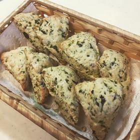 小松菜とレンコンのスコーン