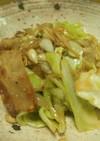 豚バラとスダジイの味噌炒め