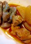 ケチャップ?!蒟蒻と大根と鶏もも肉の煮物