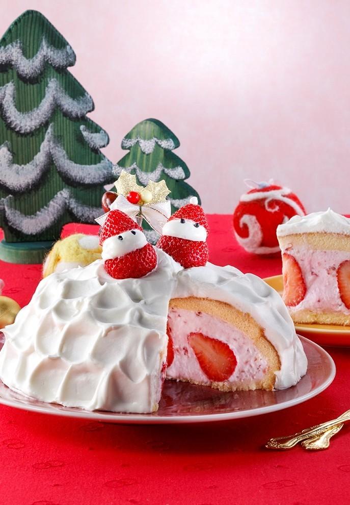 簡単☆フルーチェドームケーキ