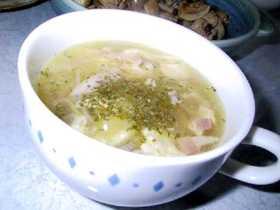 たっぷりセロリとベーコンのスープ