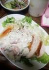 鶏むねのソテー彩り野菜のヨーグルトソース