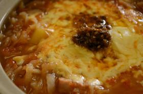冬のあったか☀簡単☀絶品トマトチーズ鍋