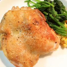 鶏モモのガーリックステーキ