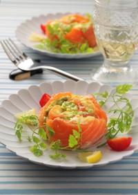 卵サラダとアボカドのサーモンロール
