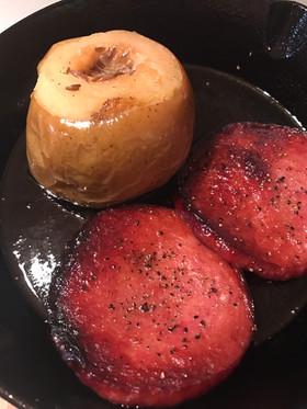 ニトスキ二枚使いで まるごと焼きリンゴ!