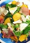柿とモッツァレラチーズ・生ハムのサラダ