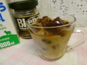 氷コーヒーのカフェオレの写真