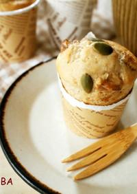 米粉で簡単♪バナナと胡桃のマフィン