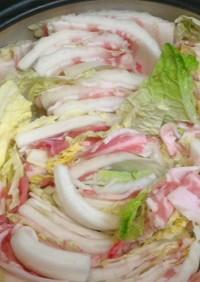豚肉と白菜のミルフィーユ鍋、時々きのこ