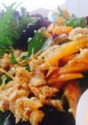 ツナカレードレッシングの生野菜サラダ♬