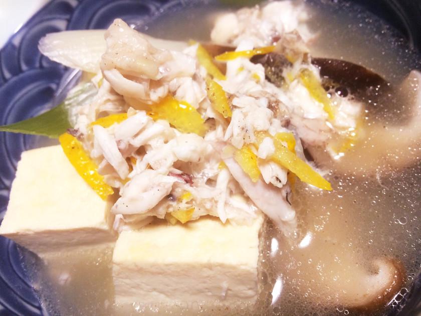節約♡鯛のアラで旨い鯛柚子胡椒の湯豆腐