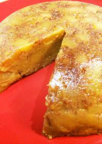 炊飯器りんごバナナキャラメルプリンケーキ