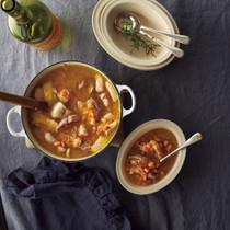 豚肉と白いんげん豆のスープ