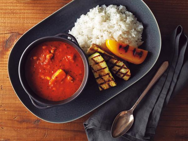 豚肉とグリル野菜のスープカレー