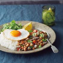 豚肉と大豆のガパオライス風