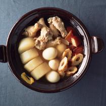 鶏手羽と卵の和風スープ