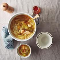 干し貝柱と白菜のスープ