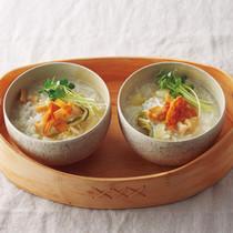 干し貝柱と白菜の中華粥
