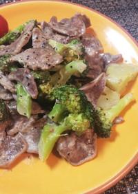 簡単♡豚タンとブロッコリーの旨マヨ炒め