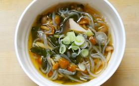 ダイエット!なめことニラ白滝の和風スープ