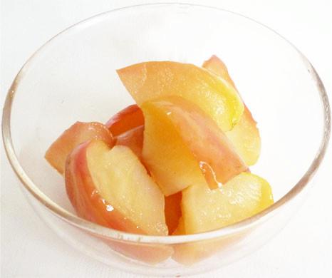 皮ごとりんごのコンポート