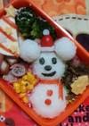 キャラ弁♡雪だるまミッキー 簡単