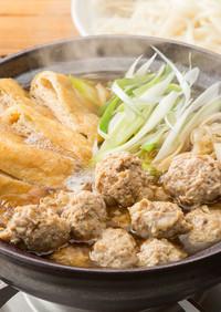寒い日には!コリコリなんこつの鶏団子鍋