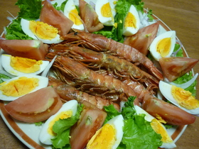 簡単~有頭海老のオーブン焼き