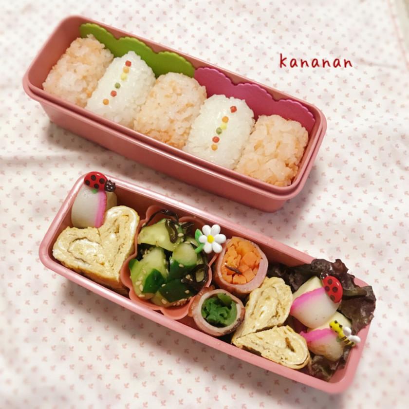 幼稚園 シンプル可愛い俵型おにぎり弁当