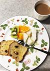 簡単パンの朝ごはん  5分