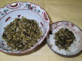 高菜と豚ひき肉の炒め物(チャーハンの素)